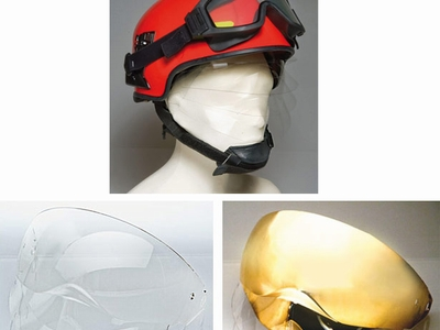 Retractible face shield